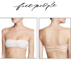 🤍 FREE PEOPLE Essential Lace Bandeau-White